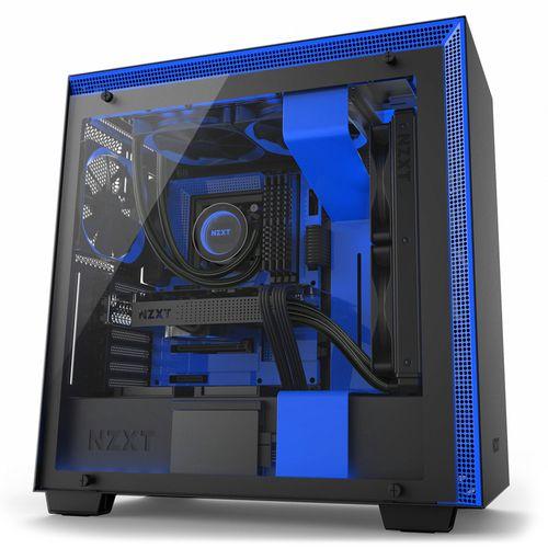 NZXT H700I SMART ATX NEGRO Y AZUL