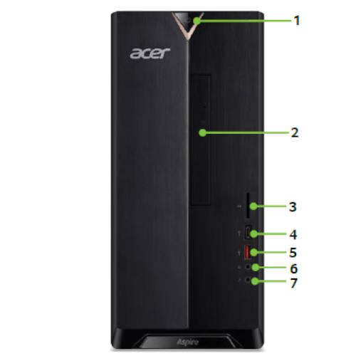 Ver CPU ACER ATC 885 DGE0XEB007 Ci5 8400 8GB 1TB GTX 1050Ti 4GB DVDRW FREEDOS
