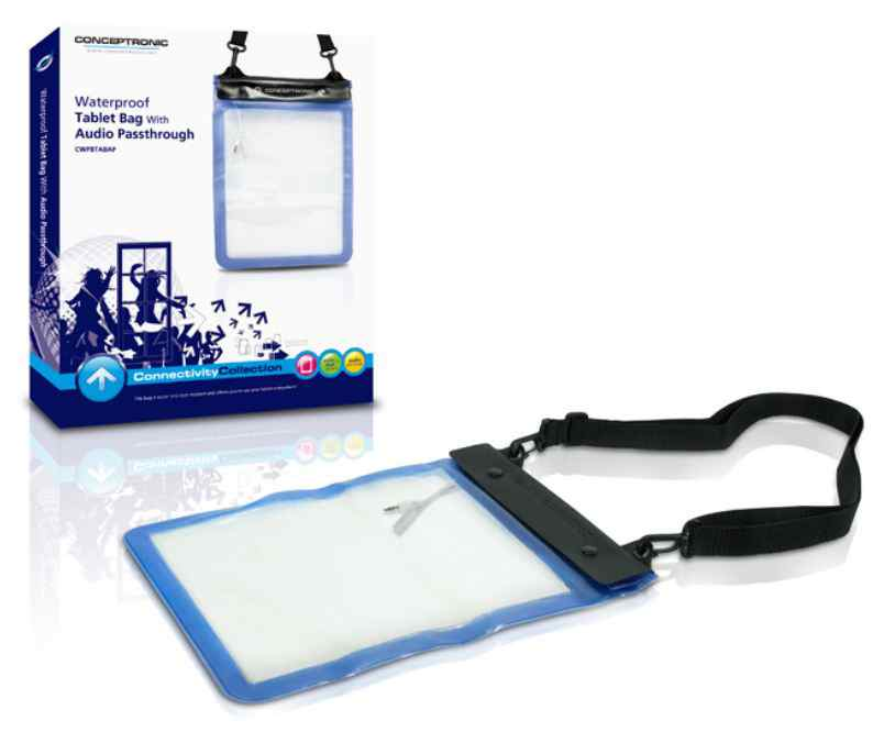 Conceptronic Bolsa Resistente al agua para Tablet con audio Passthrough  CWPBTABAP