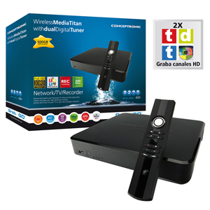 Conceptronic Media Player Titan 500gb Con Tdt  Cmt2dw500  Wifi