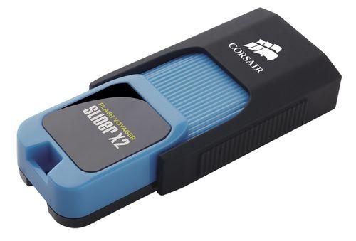 Ver Corsair Voyager Slider X2 64GB USB 3 0 Negro Azul unidad flash USB