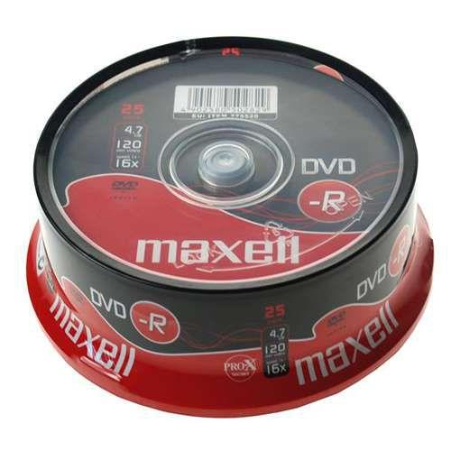 Ver DVD R 4 7 Gb Maxell Grabable Tarrina de 25 uds