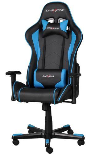 Dxracer Silla F Series Oh Fe08nb Negra Azul Incluye 2 Almohadillas