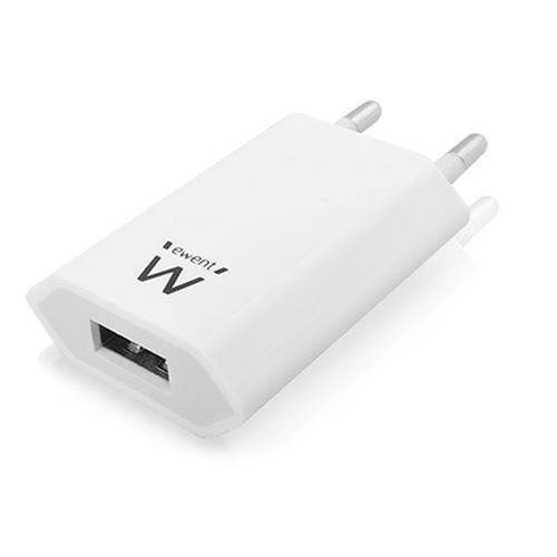 EWENT CARGADOR DE PARED 1 PUERTO USB 1A EW1209
