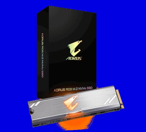 Gigabyte Aorus Rgb M2 512 Gb Pci Express 3 0 3d Tlc Nvme