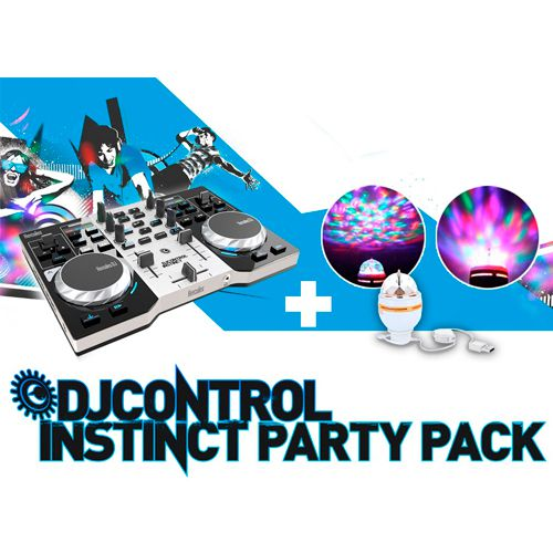 Ver HERCULES CONSOLA DJ CONTROL INSTINCT PARTY PACK