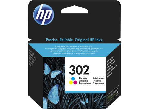 Ver HP 302 Tri color Original Ink Cartridge