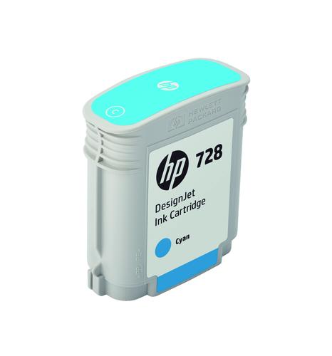 HP 728 40 ml Cyan DesignJet Ink Cartridge