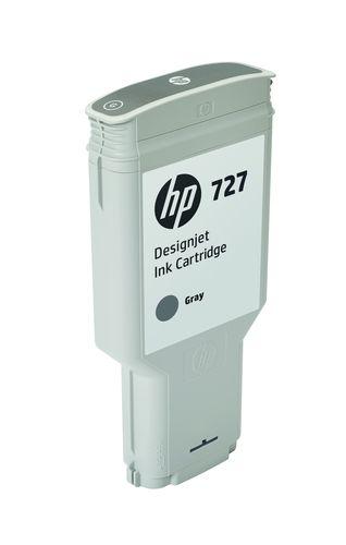 HP Cartucho de tinta DesignJet 727 gris de 300 ml