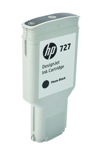 HP Cartucho de tinta DesignJet 727 negro fotografico de 300 ml