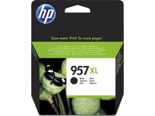 HP Cartucho de tinta Original 957XL de alto rendimiento negro
