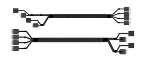 Intel Oculink Cable Kit A2U8PSWCXCXK2 OCuLink SFF 8611 OCuLink SFF 8611 Negro adaptador de cable
