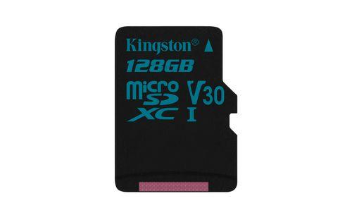 KINGSTON 128GB MICROSDXC CANVAS GO 9045 U3 UHS I V30 SINGLE PACK WO ADPTR