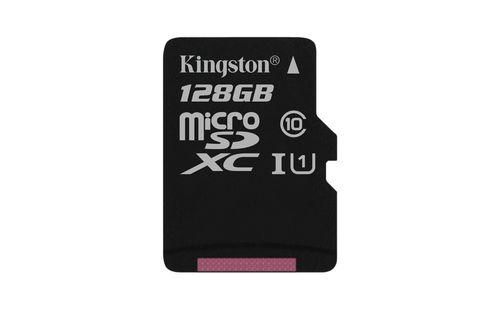 Ver KINGSTON 128GB MICROSDXC CANVAS SELECT 80R CL10 UHS I SINGLE