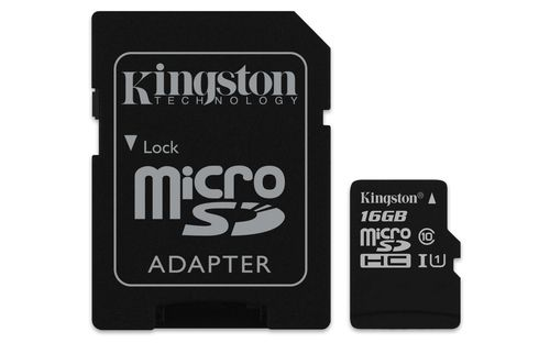 Kingston 16gb Microsdhc Canvas Select 80r Cl10 Uhs I Card
