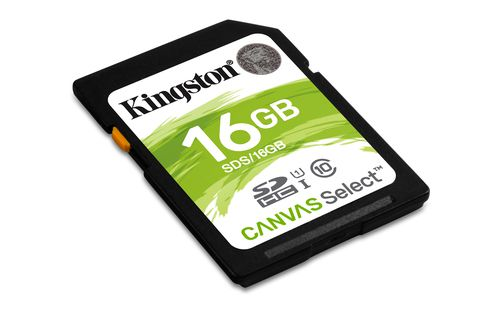 Kingston 16gb Sdhc Canvas Select 80r Cl10 Uhs I