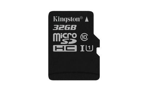 KINGSTON 32GB MICROSDHC CANVAS SELECT 80R CL10 UHS I SINGLE