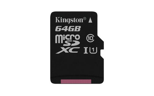 Ver KINGSTON 64GB MICROSDXC CANVAS SELECT 80R CL10 UHS I SINGLE