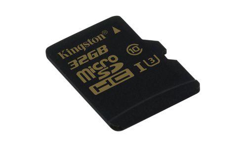 KINGSTON GOLD MICROSD UHS I SPEED CLASS 3 U3 32GB SIN ADAPTADOR