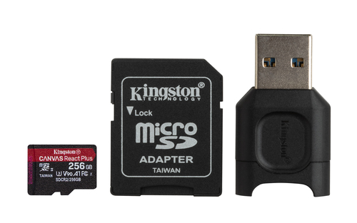KINGSTON MICROSDXC 256GB REACT PLUS SDCR2 ADAPTADOR MLPM READER