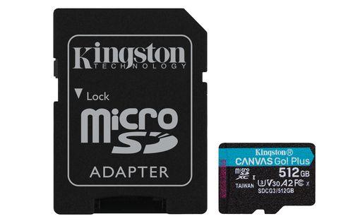 Kingston Microsdxc 512gb Canvas Go Plus 170r A2 U3 V30 Card Adaptador