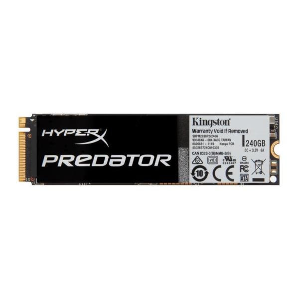 Ver Kingston HyperX Predator SSD M2 240GB