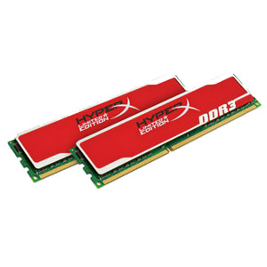 Kingston Memoria Integracion Ddr3 8gb 1600mhz Non-ecc Cl9 Dimm  Kit2  Xmp Hyperx Blu Rojo Khx