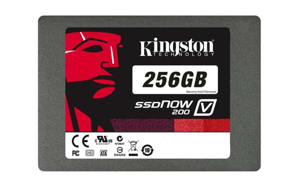 Kingston Ssd 256gb Ssdnow V200 Sata3 25 7mm  Adaptador A 95mm