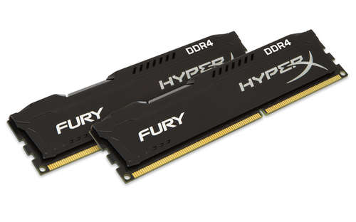 Ver Kingston Technology HyperX FURY Memory Black 8GB Kit 2x4GB DDR4 2400MHz CL15