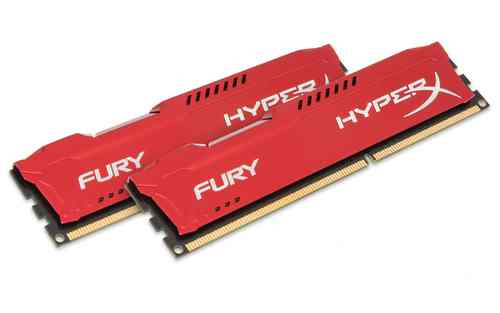 Ver Kingston Technology HyperX Fury Memory Red 8GB 1600MHz DDR3