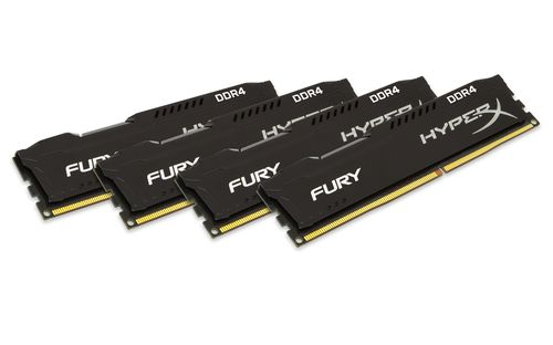 Ver Kingston HyperX Fury Black DDR4 64GB 2133MHz CL14 Kit of 4