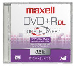 MAXELL DVD 8 5 Gb GRABABLE DOBLE CAPA TARRINA 10 Unidades 4X