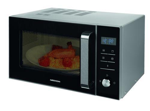 MEDION MD 18042 Encimera Microondas con grill 23L 900W Negro Plata
