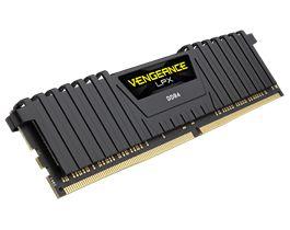 Ver CORSAIR DDR4 16GB 2X8GB PC 2400 VENGEANCE LPX BLACK