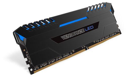 CORSAIR DDR4 16GB 2X8GB PC 3000 VENGEANCE BLACK BLUE