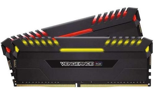 Ver CORSAIR DDR4 16GB 2X8GB PC 3200 VENGEANCE BLACK RGB