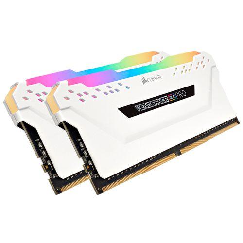 Ver CORSAIR DDR4 16GB 2X8GB PC 3600 VENGEANCE RGB PRO WHITE