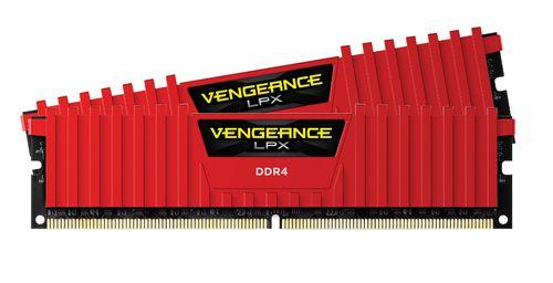 Ver MEMORIA CORSAIR DDR4 16GB 2X8GB PC4000 VENGEANCE LPX SERIES RED