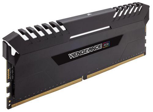 CORSAIR DDR4 32GB 2X16GB PC 3000 VENGEANCE BLACK HEAT SPREADER RGB SERIES