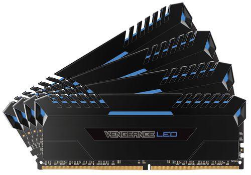 CORSAIR DDR4 64GB 4X16GB PC 2666 VENGEANCE LED SERIES LED AZUL
