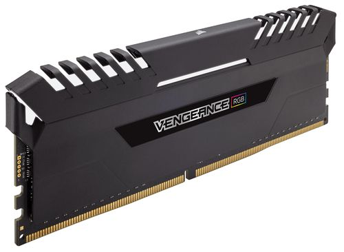 Ver CORSAIR DDR4 64GB 4X16GB PC 2666 VENGEANCE RGB SERIES