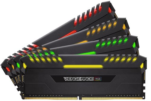 Corsair Ddr4 64gb 4x16gb Pc 2666 Vengeance Rgb Series