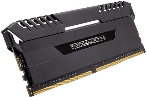 Ver CORSAIR DDR4 64GB 8X16GB PC 3600 VENGEANCE BLACK RGB