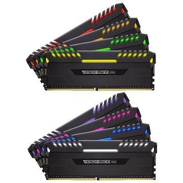 Ver MEMORIA CORSAIR DDR4 64GB 8X8GB PC 3000 VENGEANCE RGB SERIES