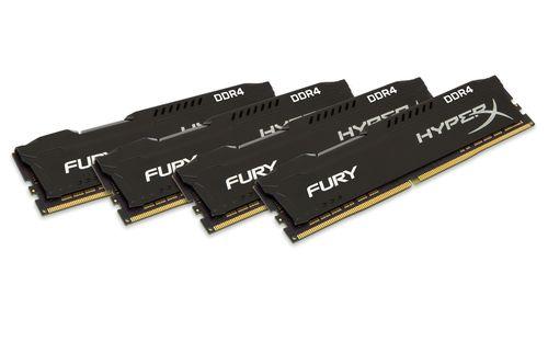 Ver KINGSTON HYPERX FURY DDR4 32GB KIT 4 2933MHZ CL17 1RX8 BLACK HX429C17FB2K432