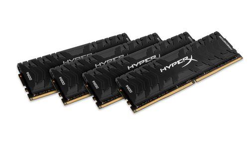 Ver KINGSTON HYPERX PREDATOR DDR4 32GB KIT4 2400MHZ CL12 XMP