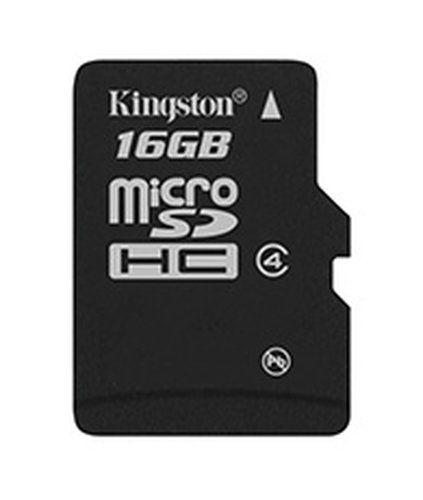 KINGSTON 16GB SDHC CON ADAPTADOR SD CLASE 4 SDC416GB AMZ