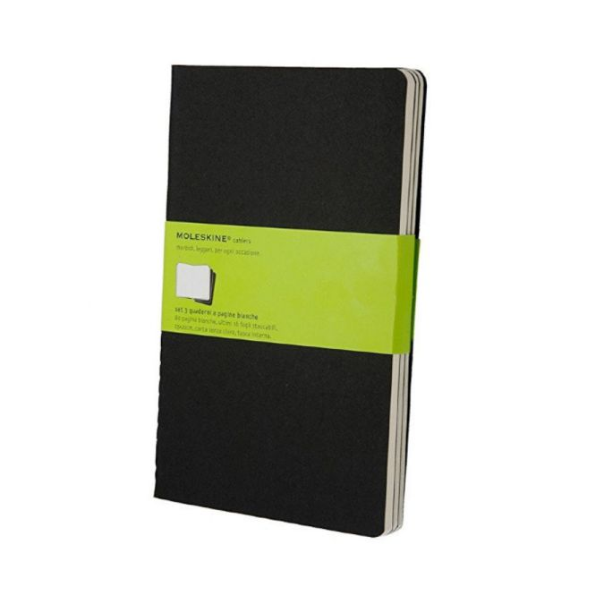 MOLESKINE CAHIER JOURNAL LARGE BLACK PLAIN
