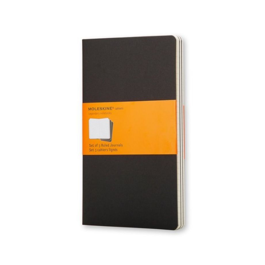 MOLESKINE CAHIER JOURNAL LARGE BLACK RULED