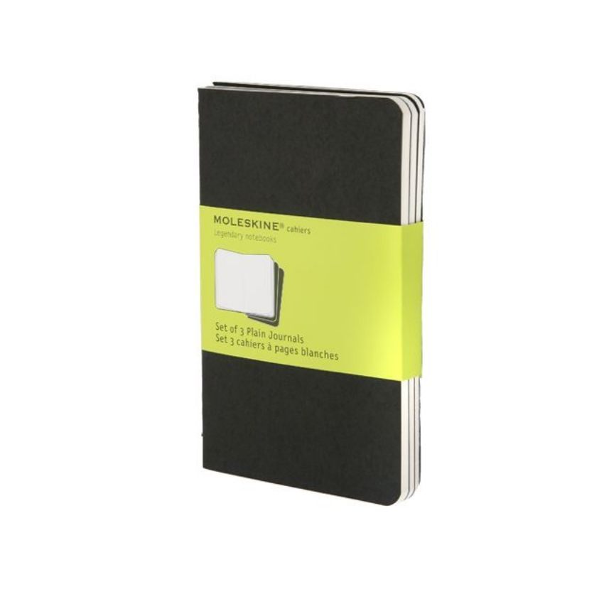 MOLESKINE CAHIER JOURNAL POCKET BLACK PLAIN